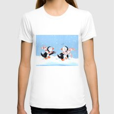 For You Womens Fitted Tee White SMALL
