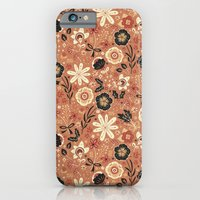 iPhone & iPod Case featuring Festive Florals (Oranges) by Anna Deegan
