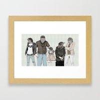 Arabian babbler Framed Art Print