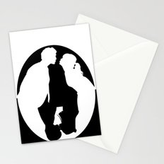 Pushing Daisies silhouette kiss Stationery Cards