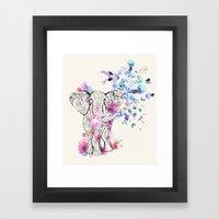 Playful Elephant Framed Art Print