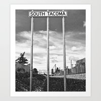 Art Print featuring South Tacoma Sounder Station Sign by Vorona Photography
