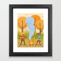 An Encounter Framed Art Print