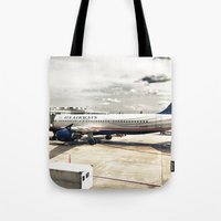 US Aiways Plane at Ronald Reagan Washington National Airport Tote Bag