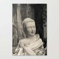 Angkor Vat Statue Canvas Print