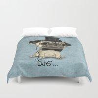 Pug; Gentle Pug (v3) Duvet Cover