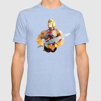 Polygon Heroes - He-Man Mens Fitted Tee Tri-Blue SMALL