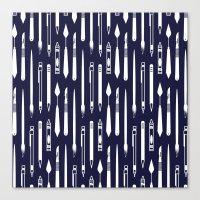 Create (dark blue version) Canvas Print