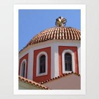 Greek Church Art Print