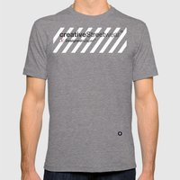 WhiteStripes Mens Fitted Tee Tri-Grey SMALL