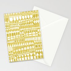 Golden Doodle abstract Stationery Cards