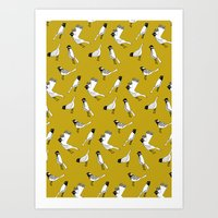 Bird Print - Mustard Yellow Art Print
