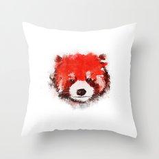 Red Panda (White) Throw Pillow