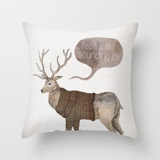 Repeat the Sounding Joy Throw Pillow