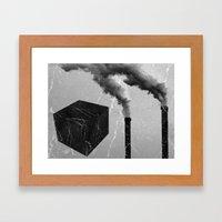 Chimney Cube Framed Art Print