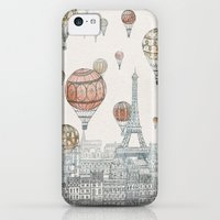 iPhone 5c Cases featuring Voyages Over Paris by David Fleck
