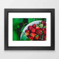 Strawberries Framed Art Print