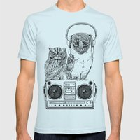 Silent Night ANALOG zine Mens Fitted Tee Light Blue SMALL