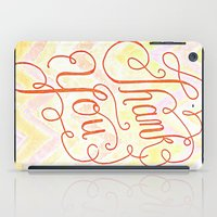 Thank you - hand lettered on chevron iPad Case