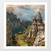Gorge Between Rocks Art Print