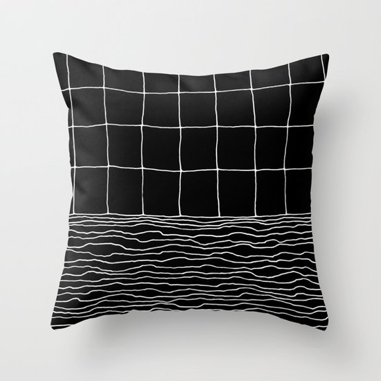 Hand Drawn Grid Throw Pillow