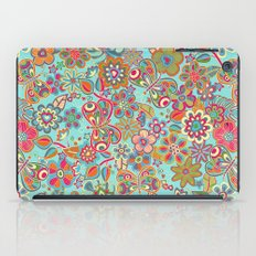 My flowers and butterflies in blue.  iPad Case