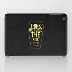 think outside the box, while you still can iPad Case