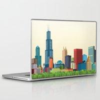 chicago Laptop & iPad Skins featuring Chicago by Felita Go