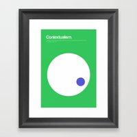 Contextualism Framed Art Print