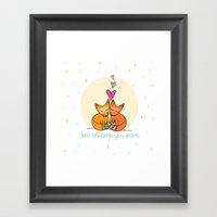 Foxy Love Framed Art Print