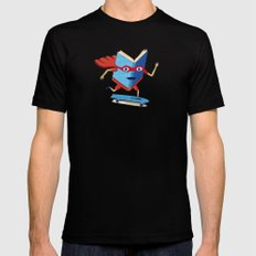 bookhero ride skateboard Black SMALL Mens Fitted Tee