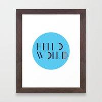 Hello World   Comp Sci Series Framed Art Print