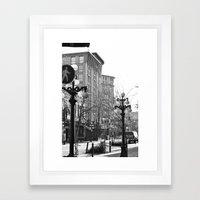 historic gastown  Framed Art Print