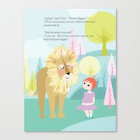 Aslan & Lucy Talking Canvas Print