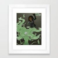 Spirit Stabbing Framed Art Print