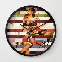 Glitch Pin-Up Redux: Britney Wall Clock