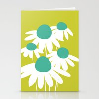 Flowers On Green By Friz… Stationery Cards