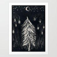 Midnight In A  Burning F… Art Print