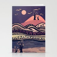 Psychedelic Mountains (c… Stationery Cards