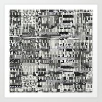 Exploiting Digital Behavior (P/D3 Glitch Collage Studies) Art Print