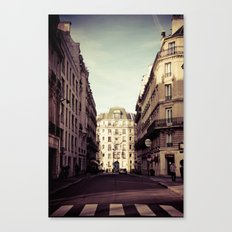 Parisian Side Street Canvas Print