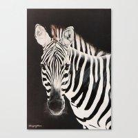 Taylor's Zebra   Painting Canvas Print