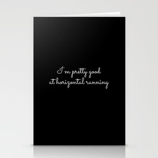 horizontal running #1 Stationery Card