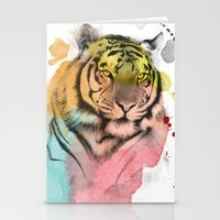 tiger Stationery Cards featuring tiger by mark ashkenazi