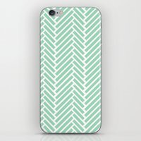 Herringbone Mint Zoom iPhone & iPod Skin