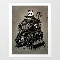 panda Art Prints featuring Panda by Ronan Lynam