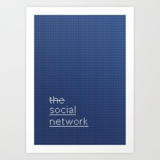 MOVIE SCRIPT / the social network Art Print