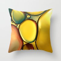 Oil & Water Abstract II Throw Pillow
