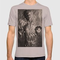 Han Solo carbonite Mens Fitted Tee Cinder SMALL