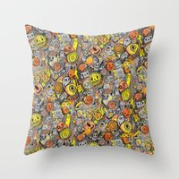 Pencil People Throw Pillow